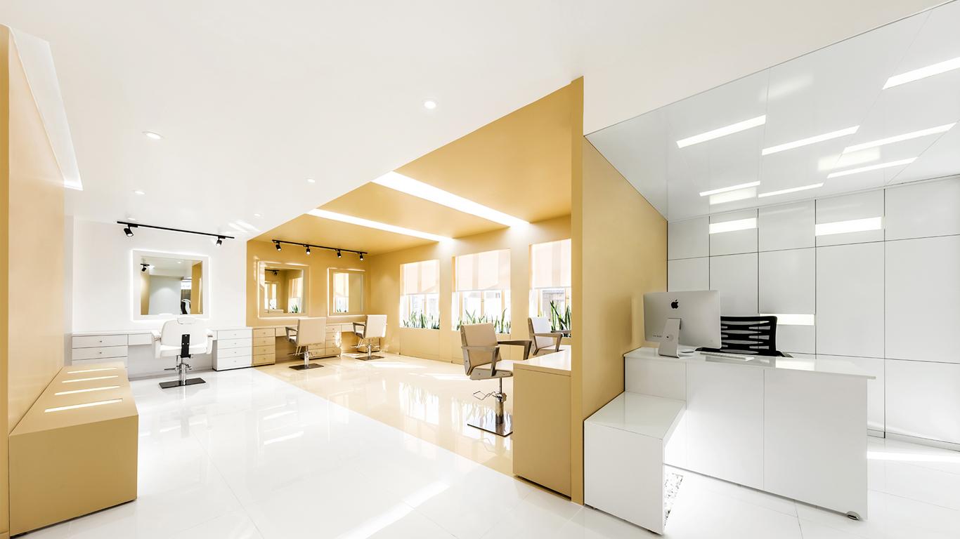 Interior design main corridor beauty salon 4 Architecture studio , استودیو معماری شماره چهار سالن اصلی سالن زیبایی, Projects