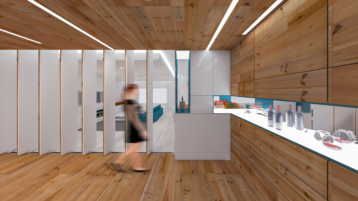 4 Architecture studio , استودیو معماری شماره چهار , Architecture , معماری ,residential , interior design, movable walls