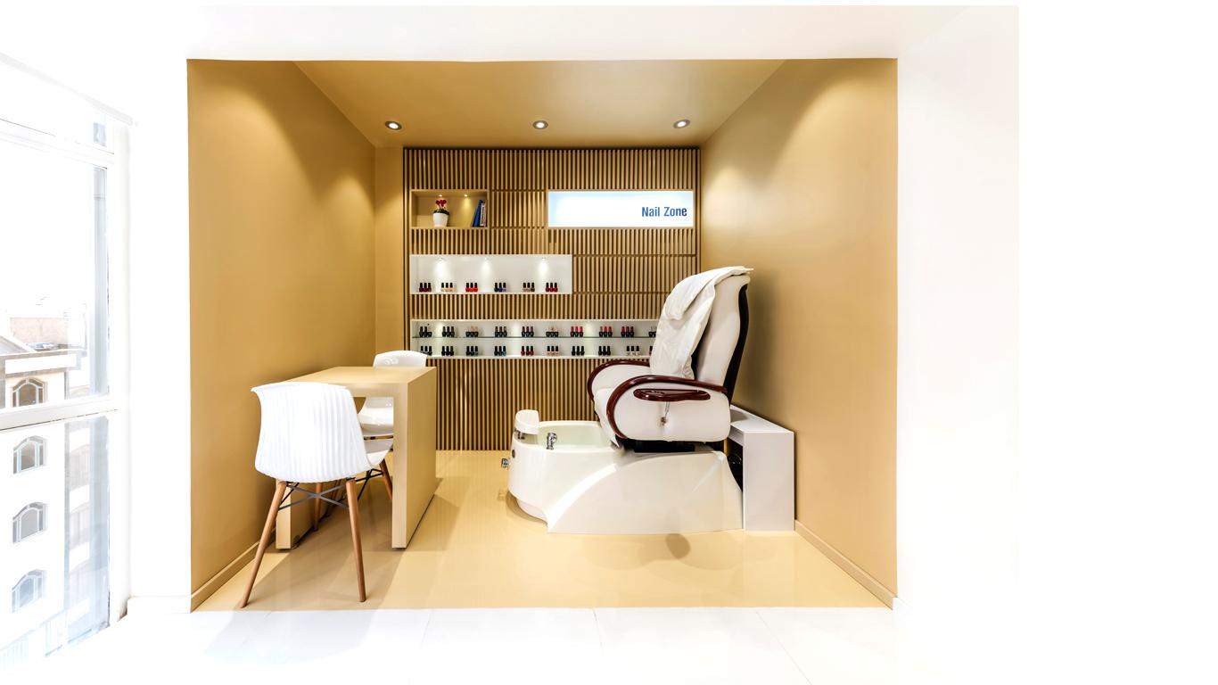 Interior design nailing zone beauty salon 4 Architecture studio , استودیو معماری شماره چهار اتاق ناخن سالن زیبایی