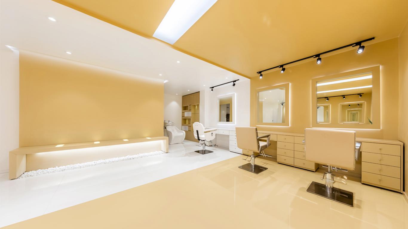 Interior design main zone beauty salon 4 Architecture studio , استودیو معماری شماره چهار فضای اصلی سالن زیبایی