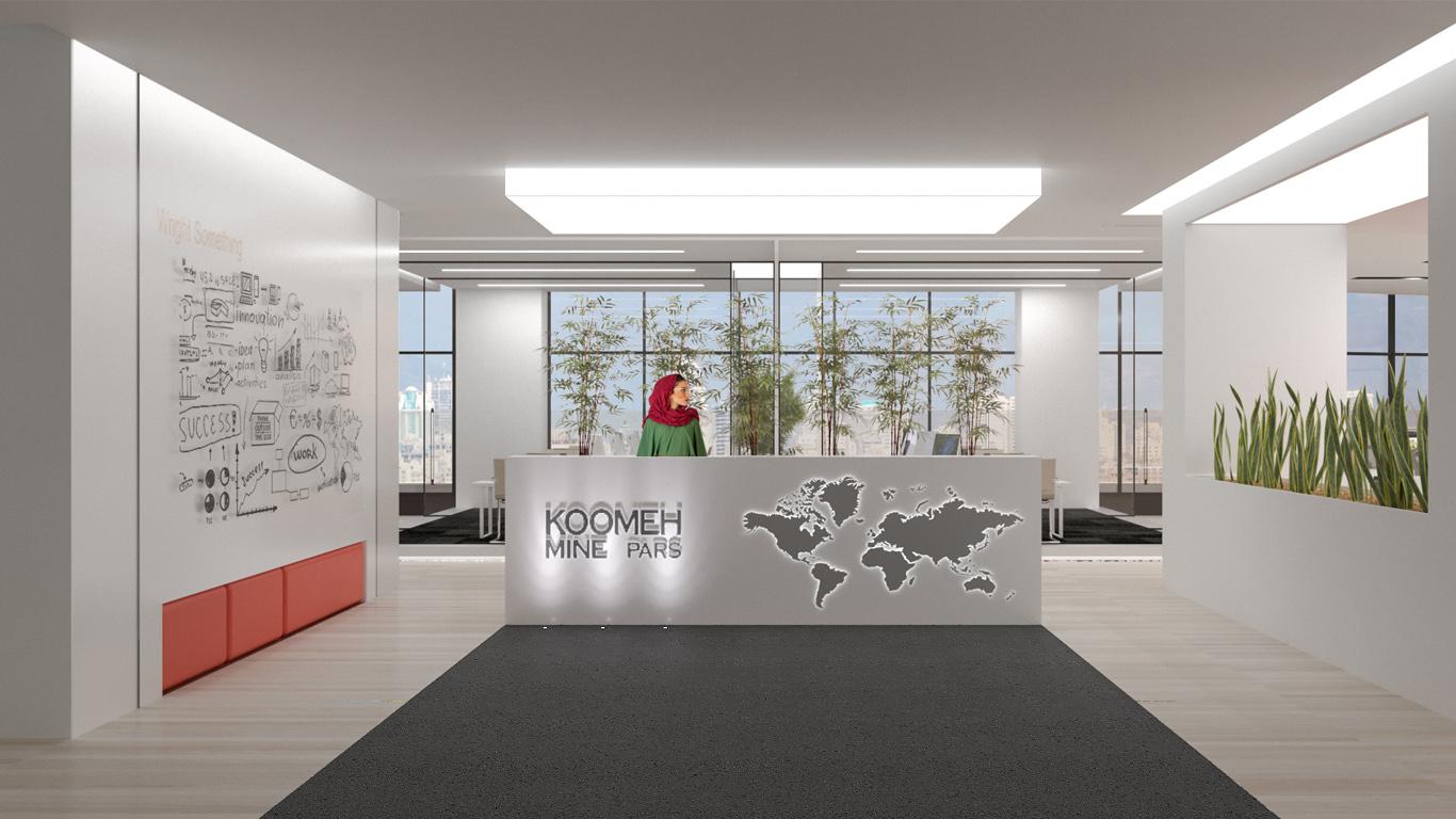 Imam Hossein Hospital Interior design (Pavilion Design), Koomeh Mine Pars Office Interior Design, کومه معدن پارس