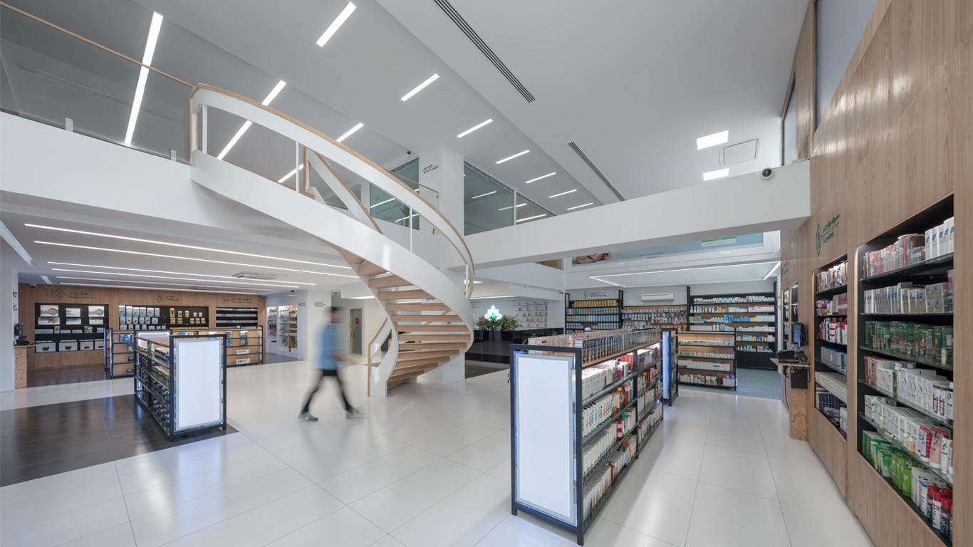 Rosha Pharmacy Interior Design, طراحی داخلی داروخانه روشا
