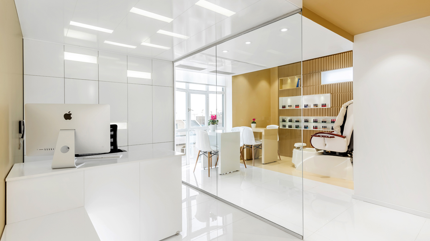 Interior design nailing zone and Reception beauty salon 4 Architecture studio , استودیو معماری شماره چهار اتاق ناخن و منشی سالن زیبایی