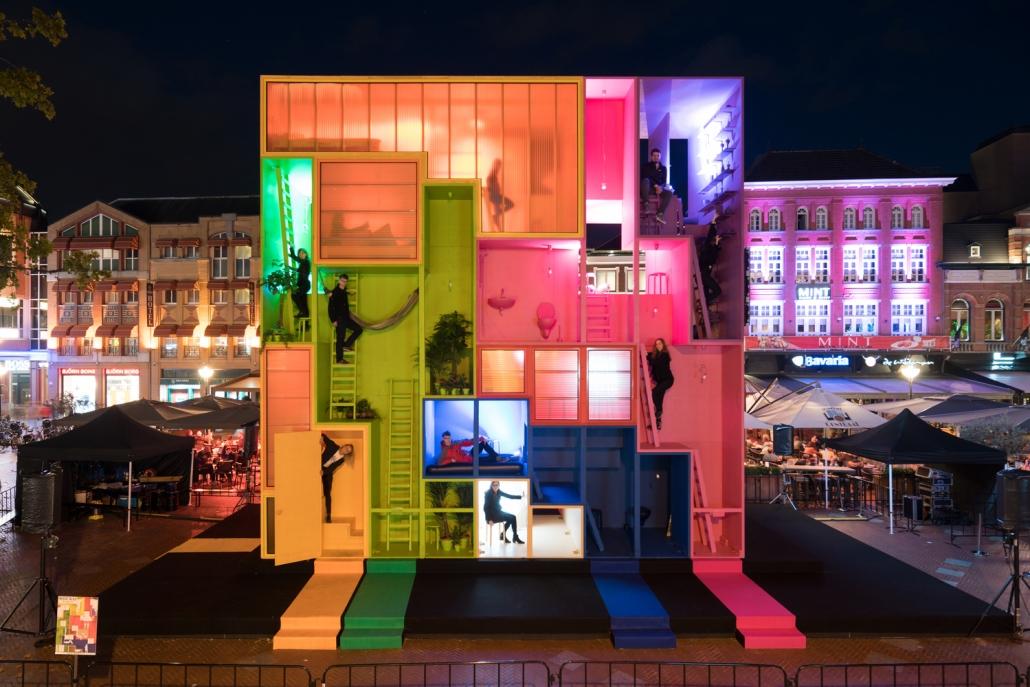 هتل چند رنگ تتریس برای هفته طراحی هلندی MVRDV